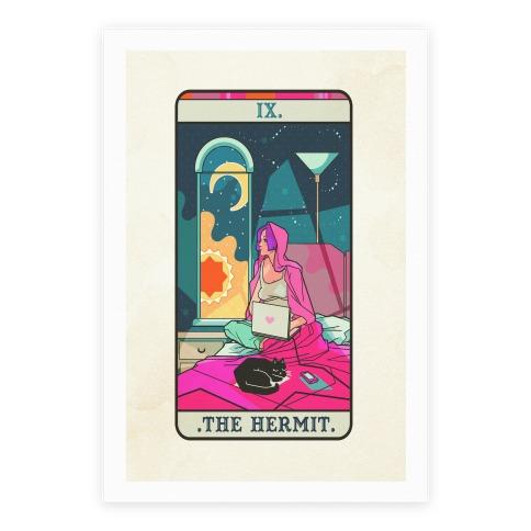 Hermit Tarot Card Poster