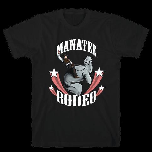 MANATEE RODEO Mens T-Shirt