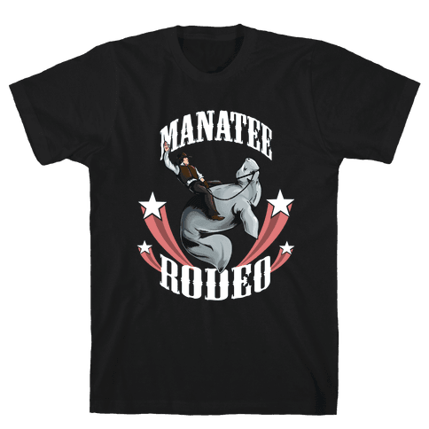 MANATEE RODEO Mens T-Shirt