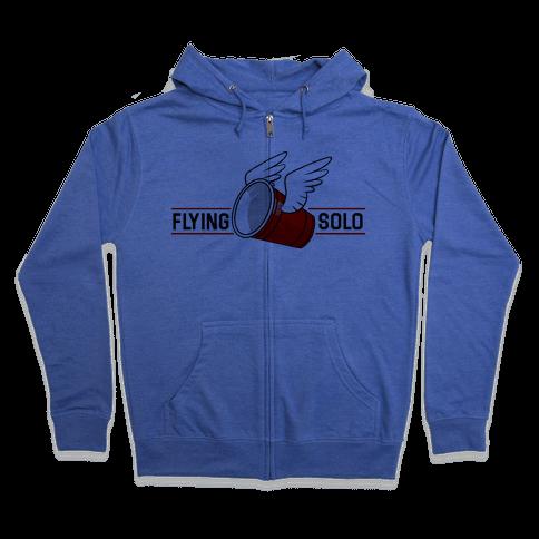 Flying Solo Zip Hoodie