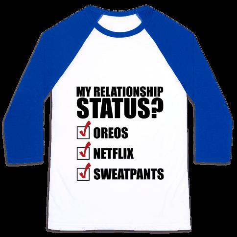 My Relationship Status Baseball Tee