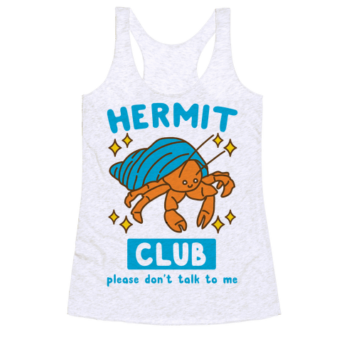 Hermit Club Racerback Tank Top