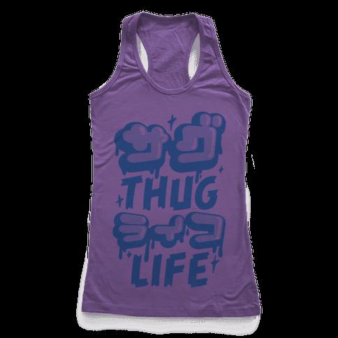 Thug Life (Japanese Katakana) Racerback Tank Top