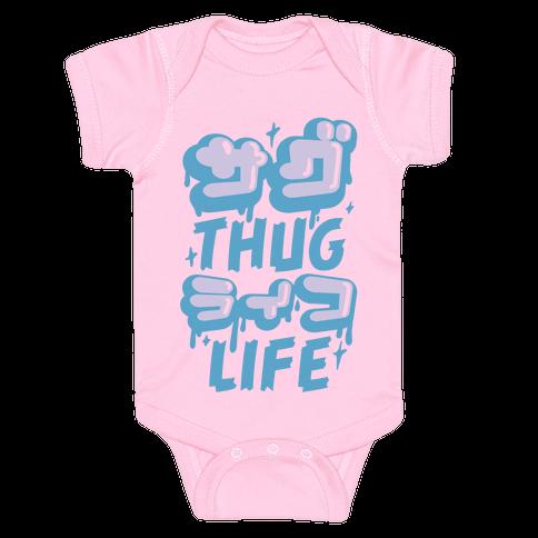 Thug Life (Japanese Katakana) Baby Onesy