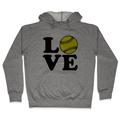 Love Softball Hooded Sweatshirt