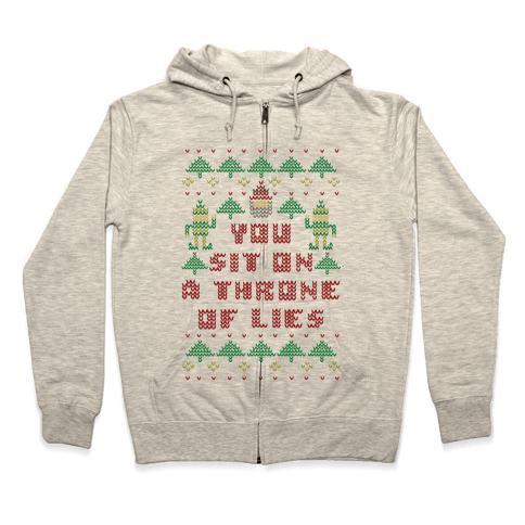 You Sit On a Throne of Lies Zip Hoodie