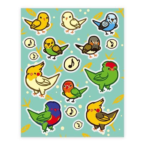 Bird Lover  Sticker/Decal Sheet