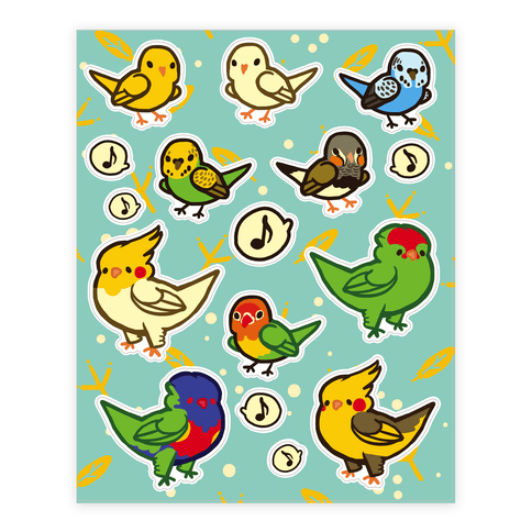 Bird Lover Sticker and Decal Sheet
