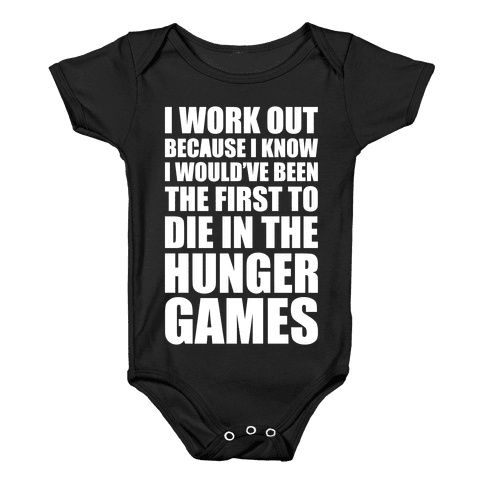 Hunger Games Workout Baby Onesy