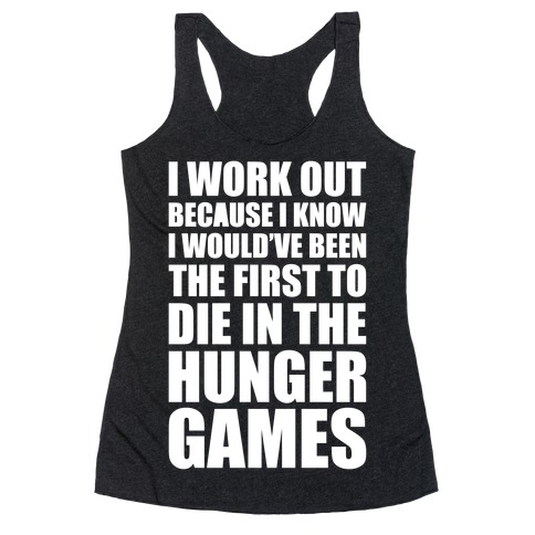 Hunger Games Workout Racerback Tank Top
