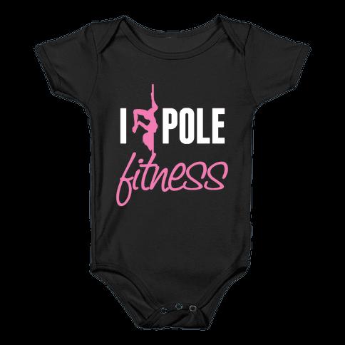 I Love Pole Fitness Baby Onesy