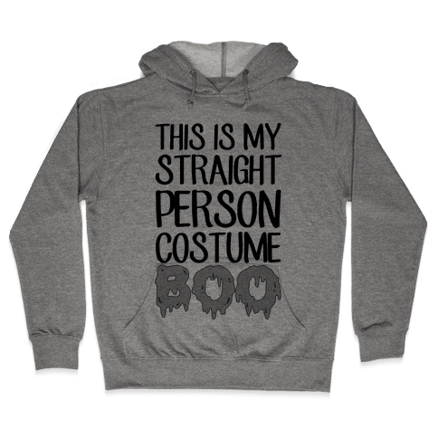 Straight Costume Hooded Sweatshirt