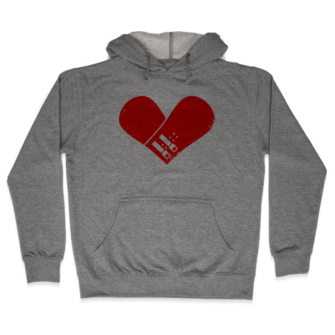 Snowboard Heart (Red) Hooded Sweatshirt