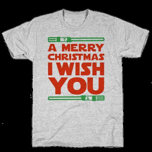 Merry Christmas I Wish You Mens T-Shirt