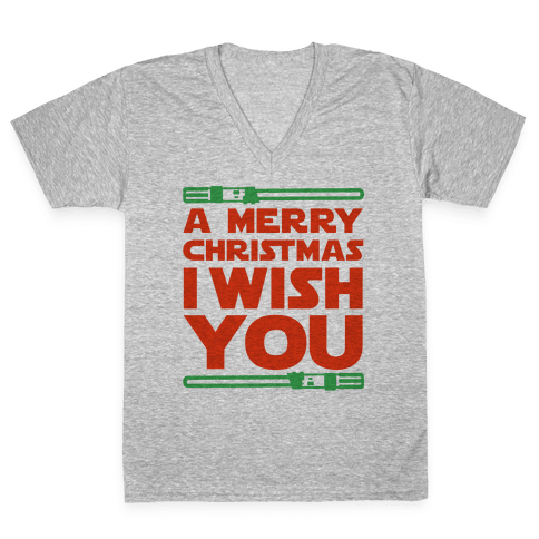Merry Christmas I Wish You V-Neck Tee Shirt