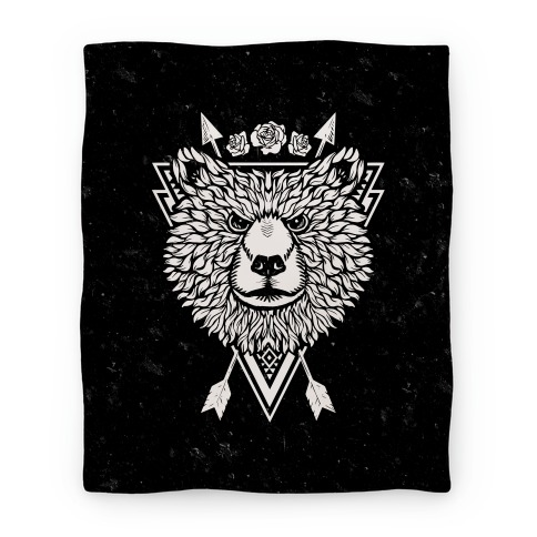 Indie Warrior Bear Blanket