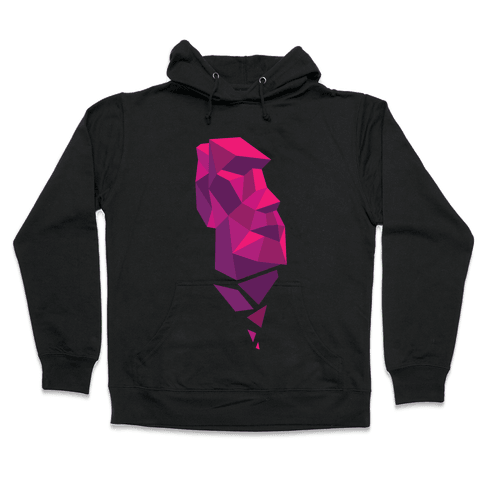 Fractal Moai Head Hooded Sweatshirt