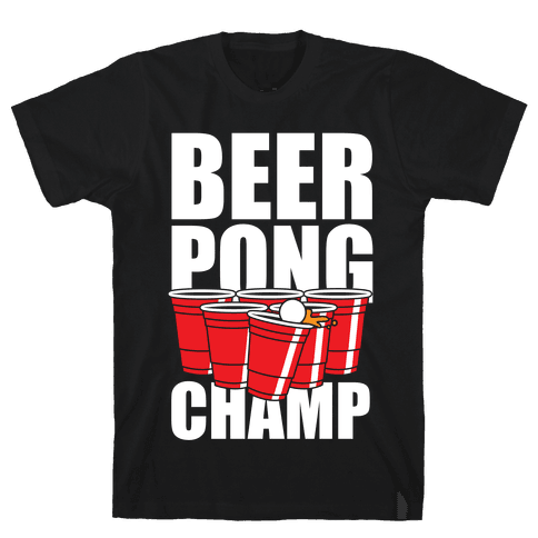 Beer Pong Champ Mens T-Shirt
