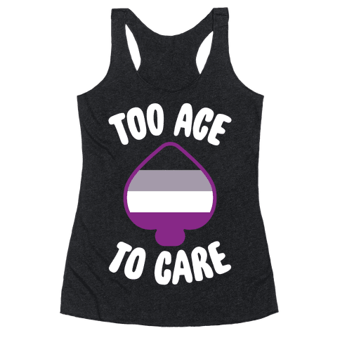 Too Ace To Care Racerback Tank Top