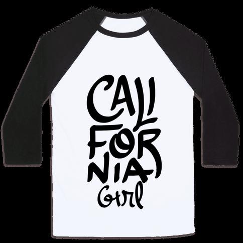 California Girl Baseball Tee
