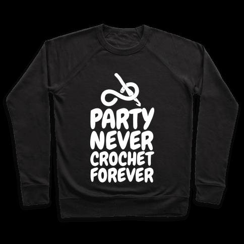 Party Never Crochet Forever Pullover