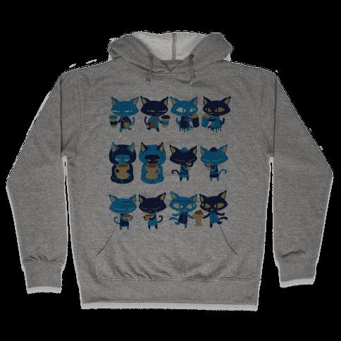 Coffee Cats Hooded Sweatshirt