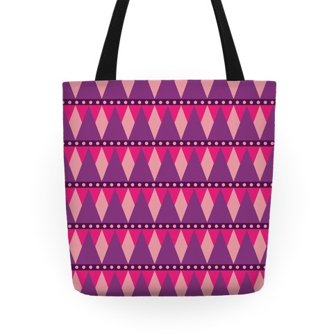 Pink Triangle Pattern Tote Tote