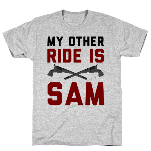 My Other Ride Is Sam Winchester Mens T-Shirt