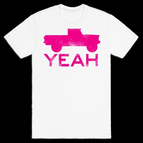 Truck Yeah (pink) Mens T-Shirt