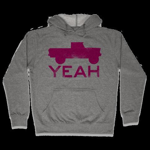 Truck Yeah (pink) Hooded Sweatshirt