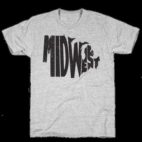 Midwest (Vintage Tank) Mens T-Shirt
