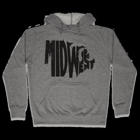 Midwest (Vintage Tank) Hooded Sweatshirt