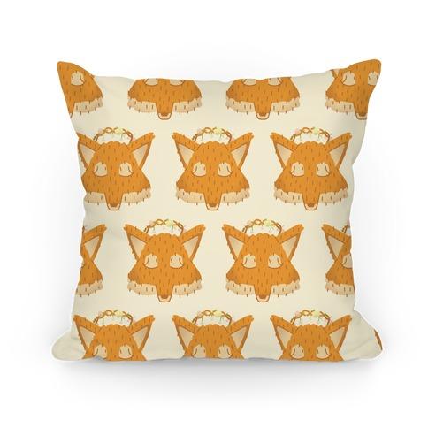 Flower Crown Fox Face Pattern