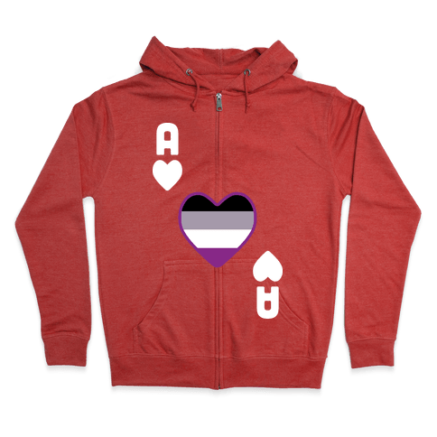 Ace Of Hearts Zip Hoodie