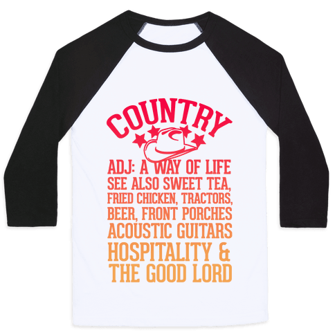 Country, A Way of Life Baseball Tee