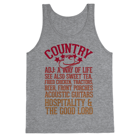 Country, A Way of Life Tank Top