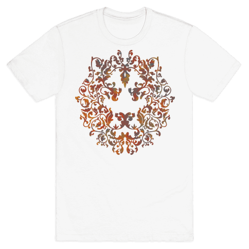 Floral Lion Mens T-Shirt