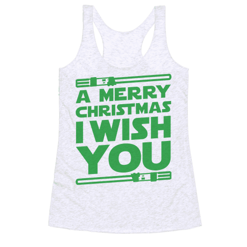 Merry Christmas I Wish You Racerback Tank Top