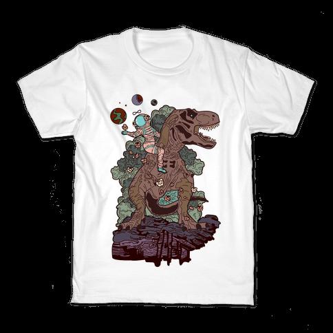 Dinosaur Strength Tarot Kids T-Shirt