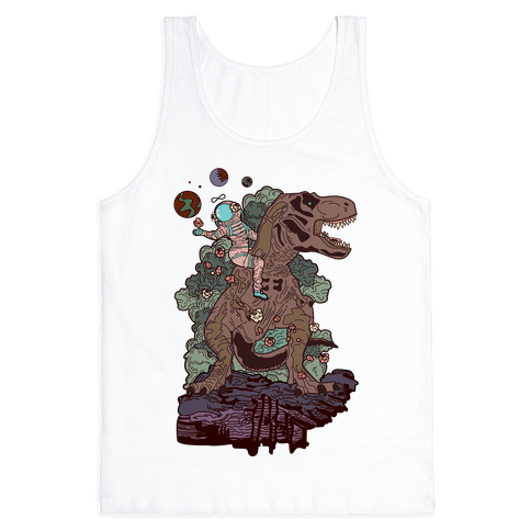 Dinosaur Strength Tarot Tank Top