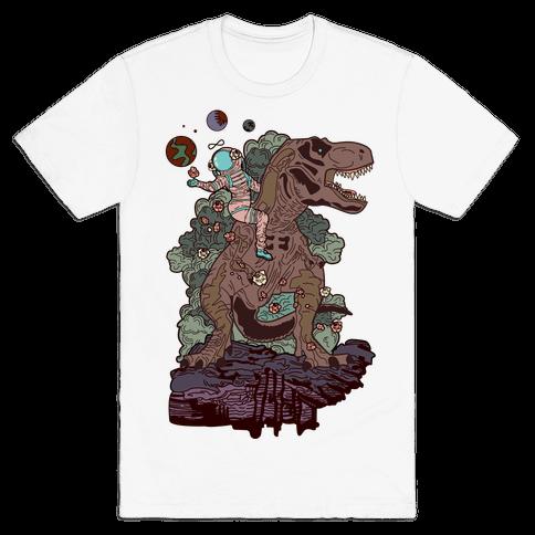 Dinosaur Strength Tarot Mens T-Shirt