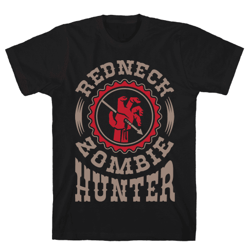 Redneck Zombie Hunter Mens T-Shirt