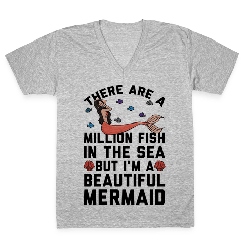 There Are A Million Fish In The Sea V-Neck Tee Shirt