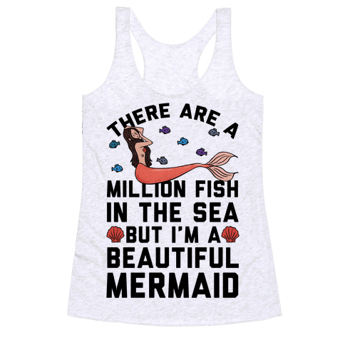 There Are A Million Fish In The Sea Racerback Tank Top