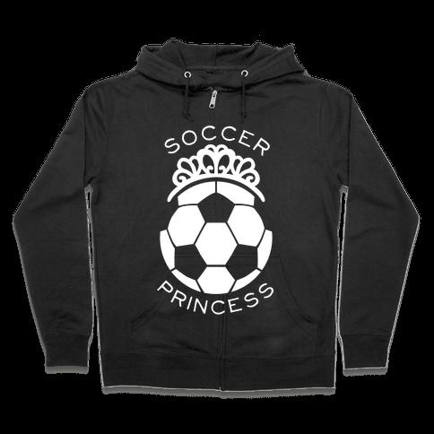 Soccer Princess (Tank) Zip Hoodie
