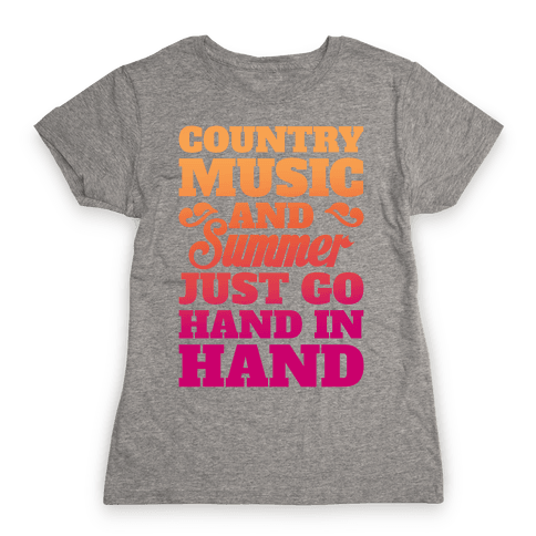 Country Music and Summer Womens T-Shirt