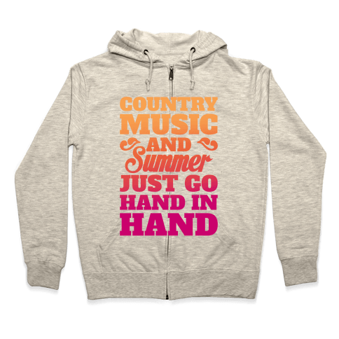 Country Music and Summer Zip Hoodie