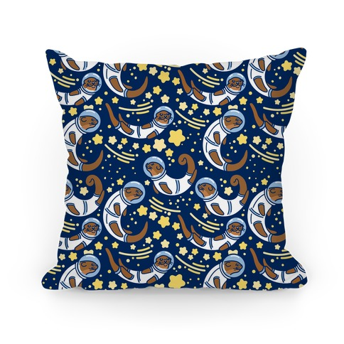 Otters In Space Pillow