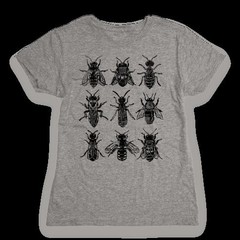 Bee Species Womens T-Shirt