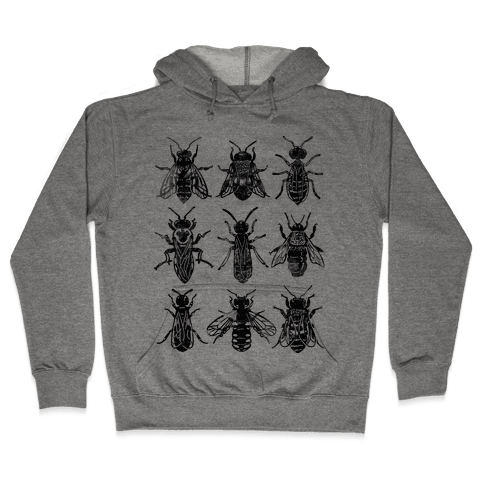 Bee Species Hooded Sweatshirt